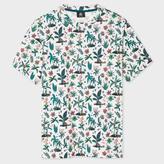 Paul Smith Men's White 'Tropical Floral' Print T-Shirt