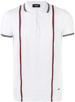 DSQUARED2 plaid-trimmed polo shirt - men - Cotton - S