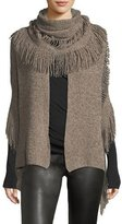 Stella McCartney Oversized Cashmere-Wool Fringe Scarf