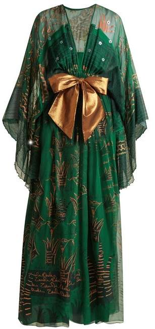 Zandra Rhodes Summer Collection The 1973 Field Of Lilies Gown - Womens - Green