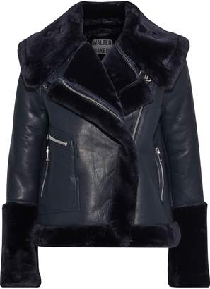 Walter Baker Edaurdo Faux Fur-trimmed Leather Jacket