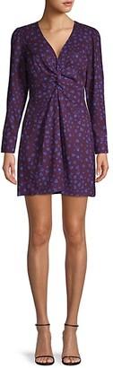 Parker Bernette floral Twist-Knot Mini Dress