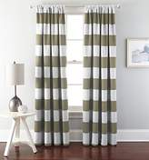 """Chezmoi Collection 1 Panel Cabana Striped Back Tab Thermal Insulated Blackout Window Curtain (52"""" W x 63"""" L"""