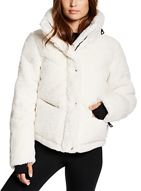 SAM. Quilted Hooded Fleece Puffer Coat