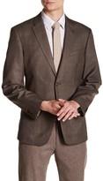 Tommy Hilfiger Brown Glenplaid Two Button Notch Lapel Jacket