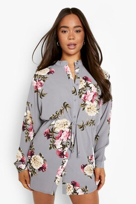 boohoo Floral Shirt Dress