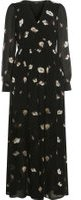 Dorothy Perkins Wo**vero Moda Black Floral Print Chiffon Maxi Dress- Black