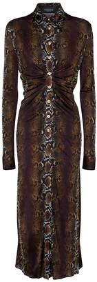 Versace Snake-print maxi dress