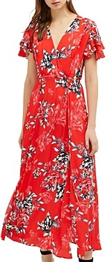 French Connection Coletta Floral Print Maxi Wrap Dress