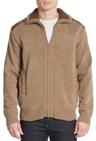 Saks Fifth Avenue Chenille Zip-Front Cardigan