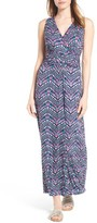 Loveappella Women's Shirred Waist Jersey Maxi Dress