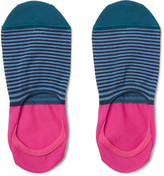Paul Smith Striped Mercerised Cotton-Blend No-Show Socks