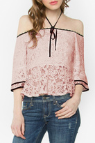 Sugar Lips Lace Peplum Top