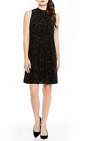 Jessica Howard Burnout Velvet Trapeze Dress