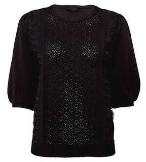 Dorothy Perkins Womens Black Lace Front T