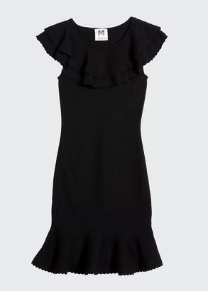 Milly Girl's Scalloped Flounce Knit Dress, Size 7-16