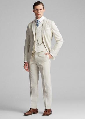 Ralph Lauren Striped Seersucker Shawl Vest