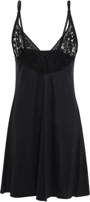 Wacoal Eternal Paneled Lace And Stretch-jersey Chemise