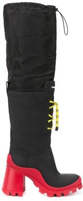 DSQUARED2 Block-Heel Knee-High Rain Boots