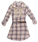 Rare Editions Girls Plaid Shirt Dress