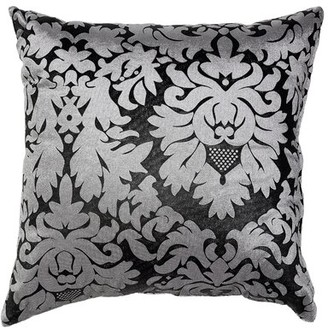 House Of Hamptonâ® Guice Damask Accent Throw Pillow House of HamptonA Color: Silver