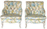 One Kings Lane Vintage Upholstered Accent Chairs - Set of 2