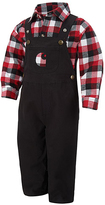 Carhartt Caviar Black & Red Button-Up & Overalls Set - Infant