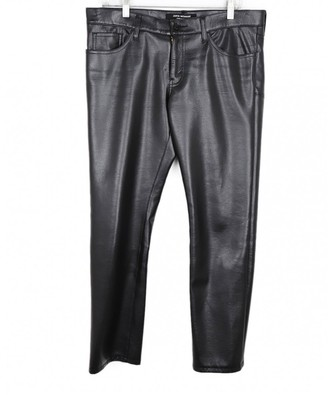 Junya Watanabe Black Leather Trousers