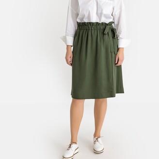 Castaluna Plus Size Tie-Waist Wrapover Skirt
