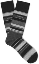 Hugo Boss - Striped Stretch Mecerised Cotton-blend Socks