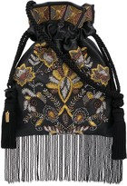 Etro embellished fringed tote bag