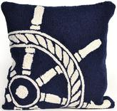 "Ship Wheel 18"" Square Outdoor Pillow"
