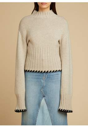 KHAITE The Colette Sweater In Powder