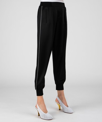Atm Hammered Silk Pull-On Pants - Black
