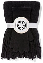 New York & Co. 2-Piece Lurex Scarf & Gloves Set