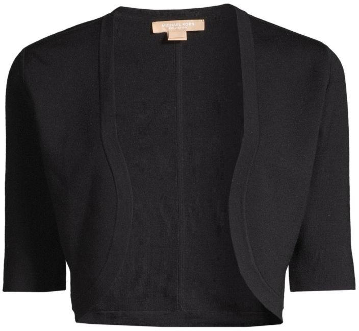 Michael Kors Merino Wool Cropped Shrug