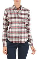 Gant YALE TARTAN TWILL SHIRT ECRU / Red / Blue
