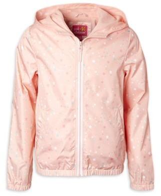 Pink Platinum Baby Toddler Girl Star Printed Windbreaker Jacket