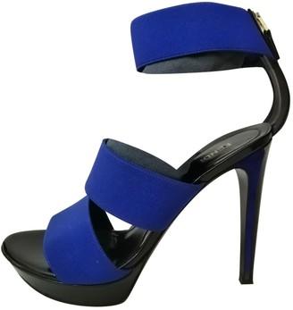 Fendi Blue Cloth Sandals