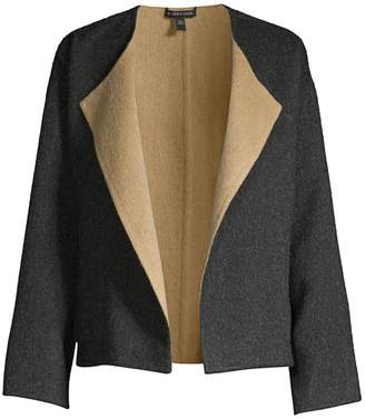 Eileen Fisher Reversible Open-Front Coat