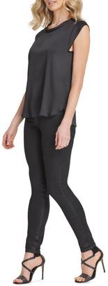 DKNY Foundation - Flutter Cap Sleeve Top