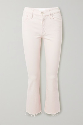 Mother The Insider Frayed High-rise Flared Jeans - Ivory