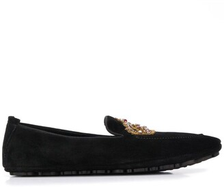 Dolce & Gabbana embroidered slippers