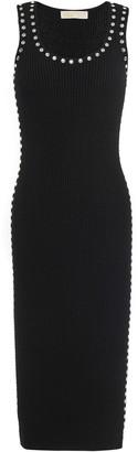 MICHAEL Michael Kors Crystal-embellished Ribbed Jersey Dress