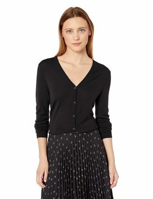 Lark & Ro Amazon Brand Women's Long Sleeve V Neck Cardigan