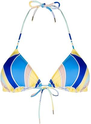 Emilio Pucci Quirimbas-print bikini top