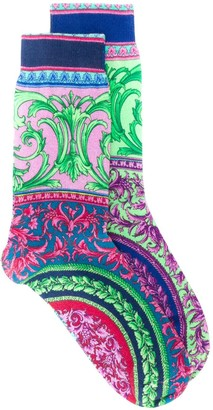 Versace Baroque Print Socks