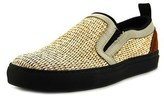 MSGM 2040ms04 Round Toe Canvas Loafer.