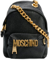 Moschino shoulder bag with logo plaque - women - Calf Leather/metal - One Size