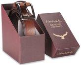"Hawkdale Men's Full Grain Leather Belt - 1"" (25mm) # HD-809-400 - Brown, 3XL - Boxed"